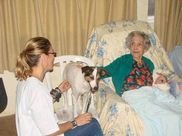 [Colaborativo](17965)Pets terapeutas levam alegria à clínica de idosos no Rio-1 (Foto: Roberta Pereira Leite de Araujo / VC no G1)