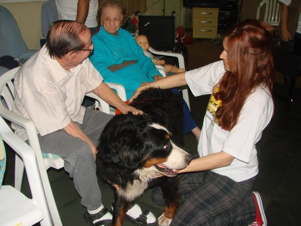 [Colaborativo](17965)Pets terapeutas levam alegria à clínica de idosos no Rio-4 (Foto: Roberta Pereira Leite de Araujo / VC no G1)
