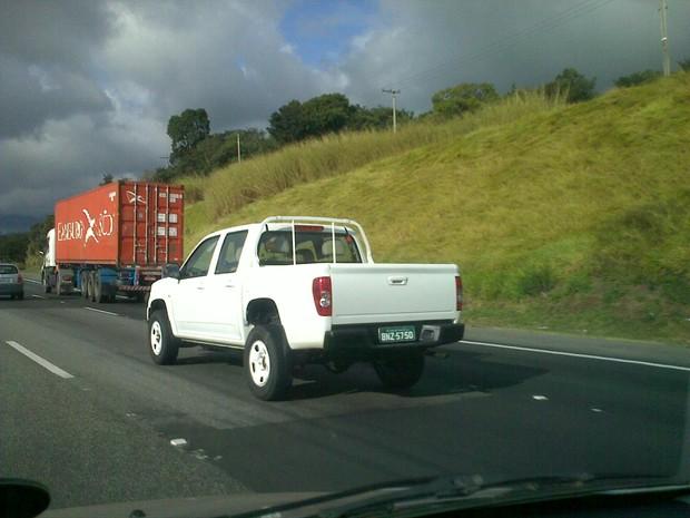[Colaborativo](28013)Nova S10 é flagrada na Rodovia Bandeirantes -2 (Foto: Rodrigo Moura / VC no G1)