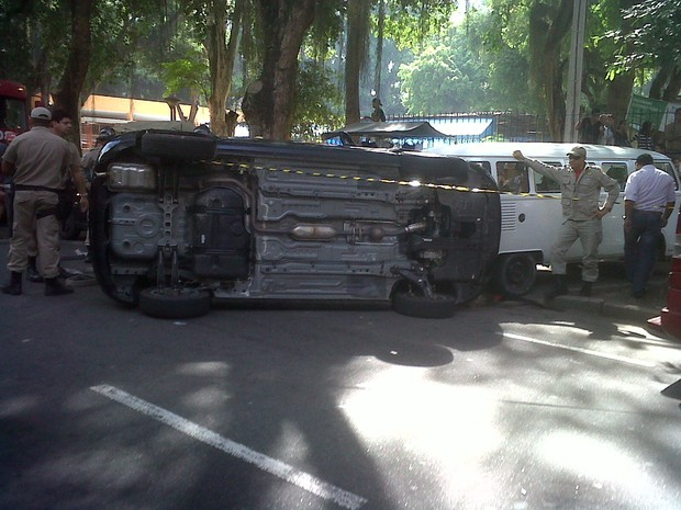[Colaborativo](28557)Manhã tensa em Icaraí, Niterói/RJ.-1 (Foto: Matheus Ortega Pietrobon / VC no G1)