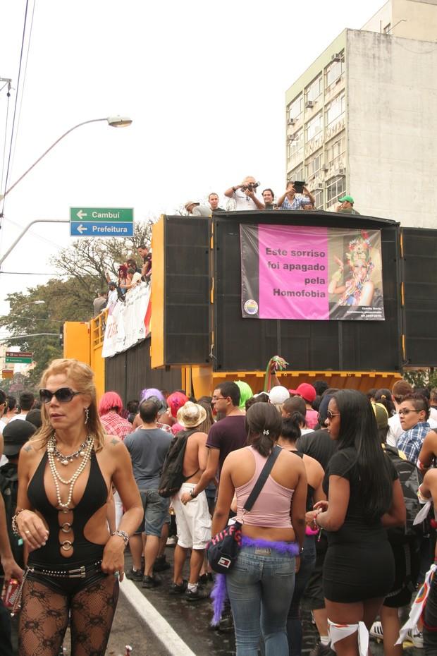 [Colaborativo](32168)11º Parada do orgulho gay de Campinas-1 (Foto: Andressa Rafaela Santos / VC no G1)