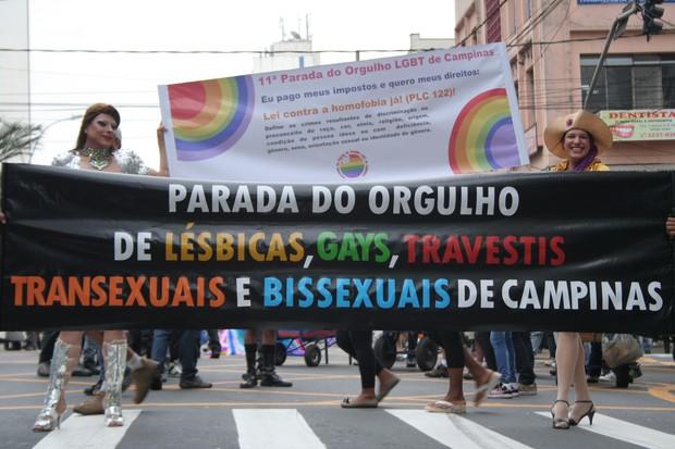 [Colaborativo](32168)11º Parada do orgulho gay de Campinas-0 (Foto: Andressa Rafaela Santos / VC no G1)