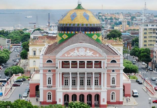 Teatro Amazonas patrimônio histórico da capital Amazonense (Foto: Arquivo/ AVG/ TV Amazonas)