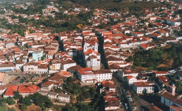 Vista do alto de Diamantina (Foto: Erildo Antônio Nascimento de Jesus/Arquivo Pessoal)
