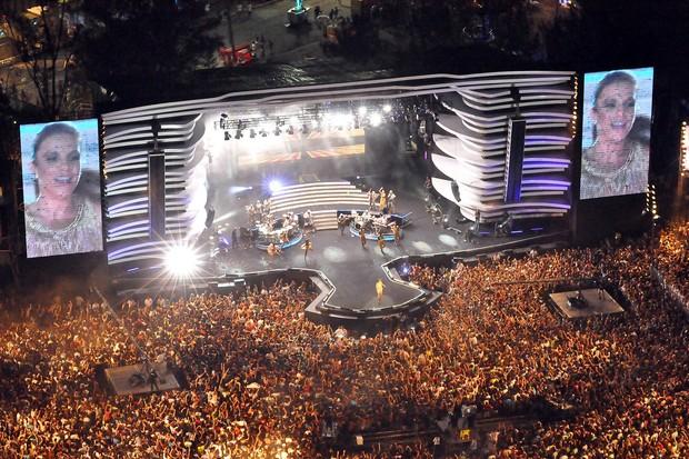 ivete sangalo imagens aéreas; festival de verçao (Foto: Edgar de Souza/Divulgação)
