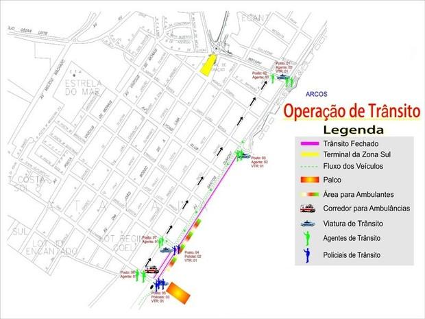 O tráfego deverá ser feito por vias alternativas. O motorista deve evitar a avenida Santos Dumont. (Foto: Divulgação/SMTT)
