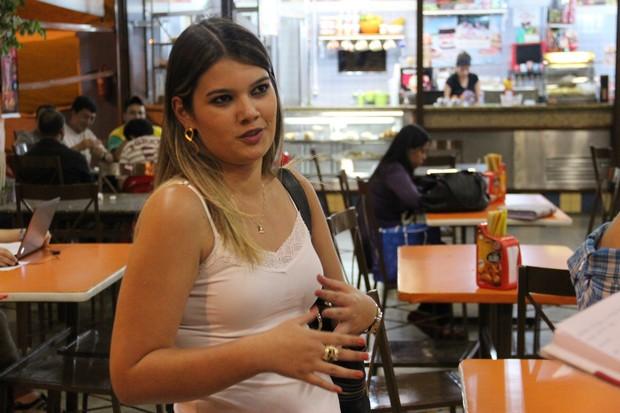 Luciana Rodrigues, 22, estudante de administração (Foto: Eric Mantuan/G1)