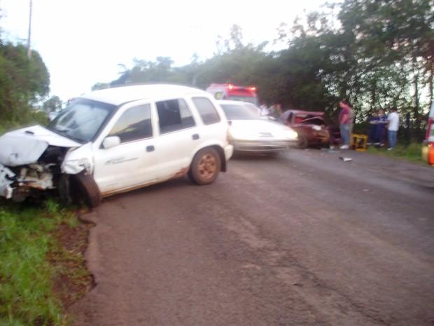 Acidente mata dois e um bebê que estava para nascer no noroeste do RS (Foto: Brigada Militar/ Divulgação)