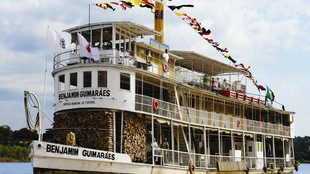 Barco a vapor Benjamim Guimarães (Foto: Prefeitura de Pirapora)