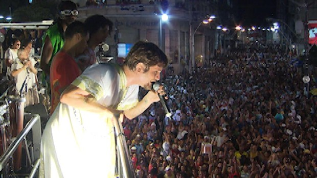 Saulo no encontro de trios (Foto: Imagens/ TV Bahia)