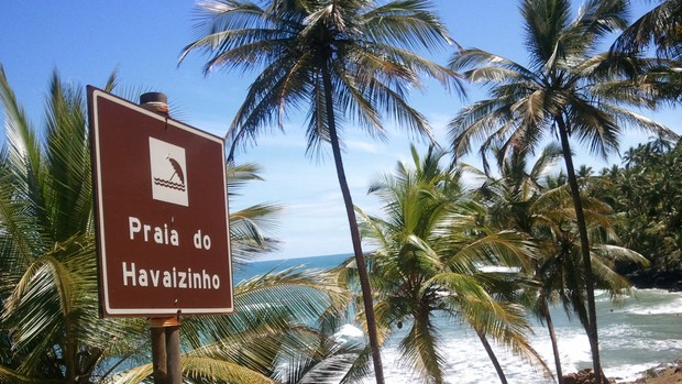 Itacaré: Praia Havaizinho (Foto: Ida Sandes/ G1BA)