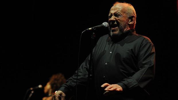 Joe Cocker em seu show em São Paulo (Foto: Flavio Moraes/G1)