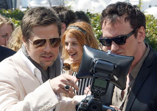 Brad Pitt e Quentin Tarantino em Cannes (Foto: Reuters)
