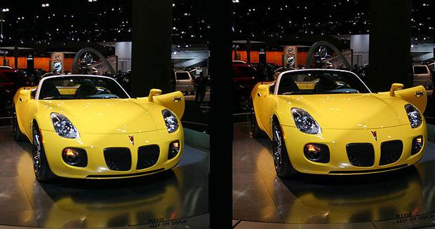 Fotografia de carro 3D