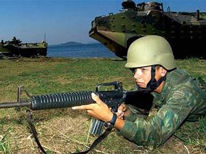 Treinamento da Marinha (Foto: Divulgação)