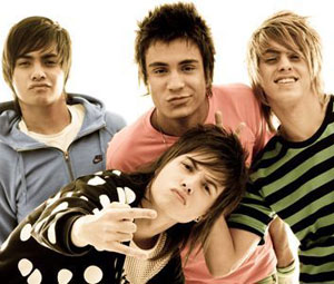 O quarteto de pop rock Restart