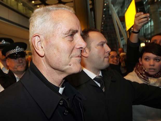 O bispo Richard Williamson em Londres em 25 de fevereiro de 2009.