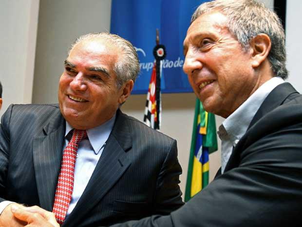 Michel Klein e Abílio Diniz
