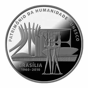 Moeda comemorativa dos 50 anos de Brasília