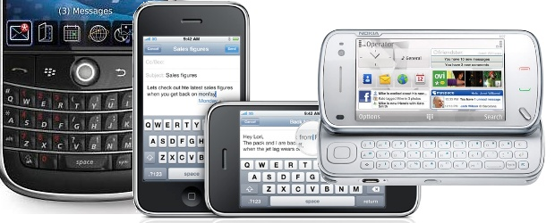 Smartphones - tela e teclado