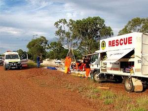 Resgate salva australiana