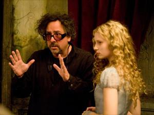 Tim Burton e Mia Wasikowska