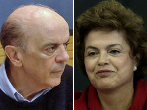 José Serra e Dilma Rousseff