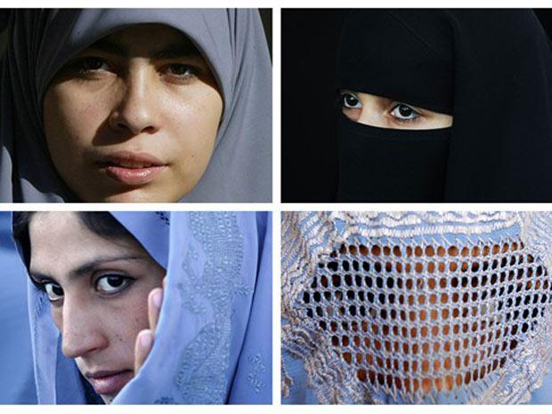véus islâmicos diferença burca niqab