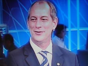 O deputado Ciro Gomes em entrevista ao SBT nesta sexta-feira (23)