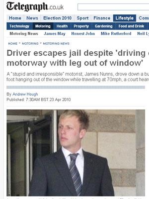 James Nunns sai de julgamento
