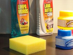Produtos de limpeza para carros