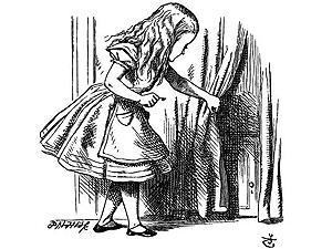 A personagem Alice, em ilustração assinada pelo artista John Tenniel.