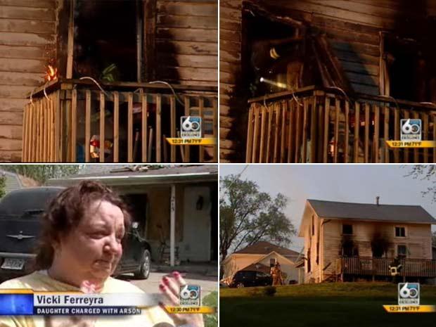 Casa ficou praticamente destruída.