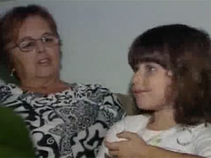 Maria Domingues e a neta