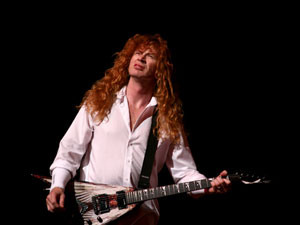 David Mustaine, vocalista, guitarrista e líder do Megadeth.