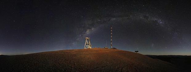 Vista panorâmica da Colina Amazones, no deserto chileno do Atacama