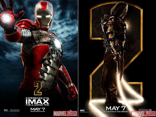 Novos cartazes de 'Homem de ferro 2', com Downey Jr. e  Rourke: filme estreia nesta sexta-feira (30).