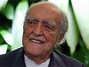O arquiteto Oscar Niemeyer em seu aniversário de 100 anos, em 2007