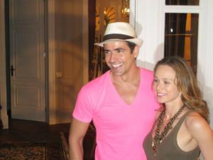 Os atores Reynaldo Gianecchini e Mariana Ximenes, durante  lançamento de 'Passione', no Rio