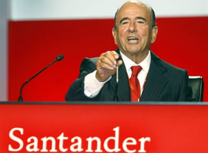 O presidente-executivo do Santander no mundo, Emilio Botin