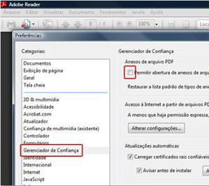 Mudança na configuração do Adobe Reader é recomendada para se proteger de ataques.