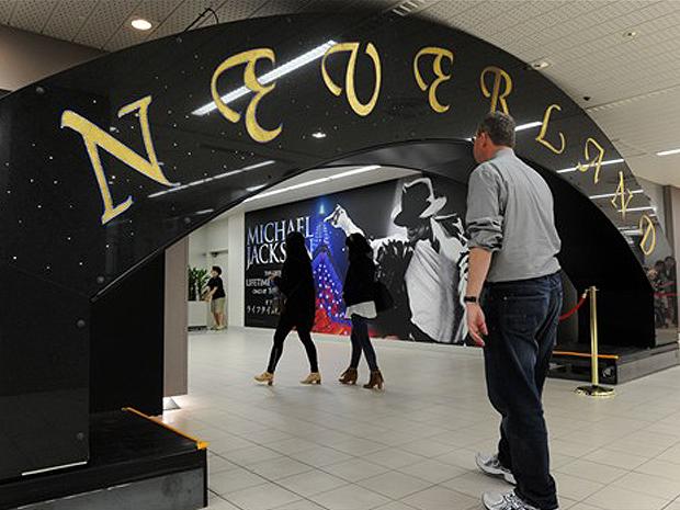 Pórtico que foi do rancho Neverland integra o acervo da mostra japonesa.
