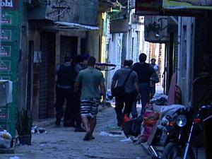 Operação da polícia na favela da Maré