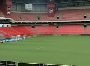 Obras na Arena da Baixada, em Curitiba, já começaram