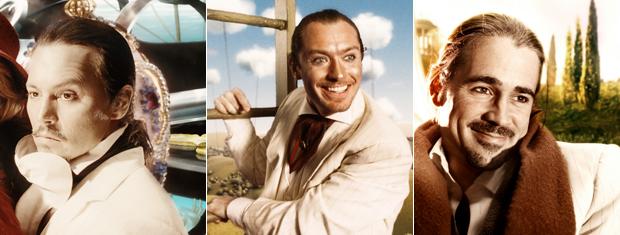 Depp, Law e Farrell: trio se reveza para viver personagem de Ledger, morto em paralelo a filmagens.