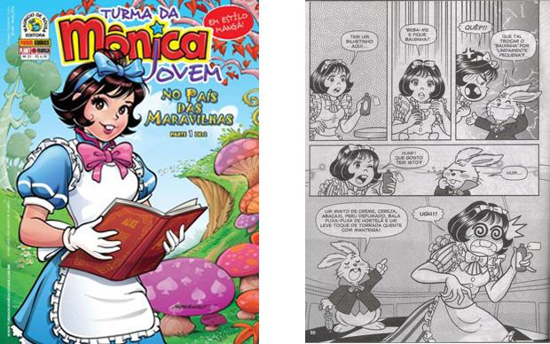 Mônica vira Alice em nova história da 'Turma da Mõnica Jovem'.