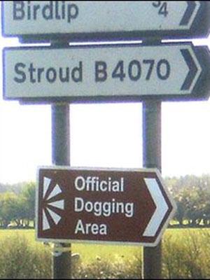Placa área para prática de sexo ao ar livre em Barrow Wake