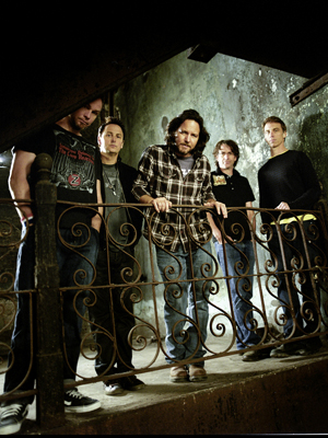 Imagem da banda Pearl Jam, em 2010