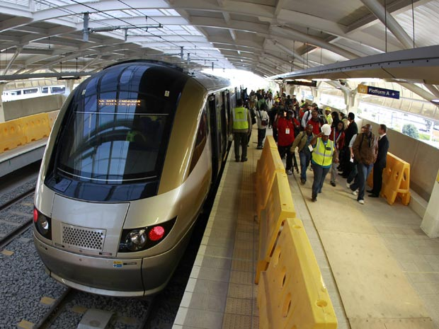 Trem de alta velocidade vai unir aeroporto a bairro turístico  de Joanesburgo