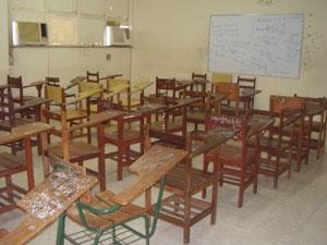 Salas de aula em Belém estão vazias